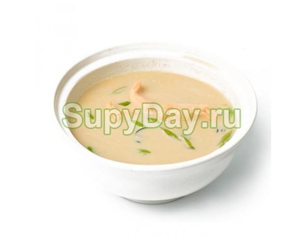 Сырный суп пюре с лососем