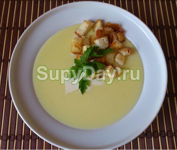 Сырный суп пюре с белым вином
