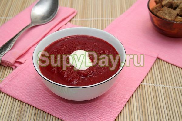 Сырный суп пюре с козьим сыром