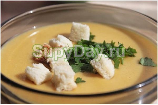 Сырный суп пюре с говядиной