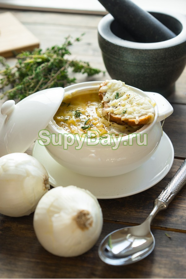 Классический рецепт вкусного лукового супа