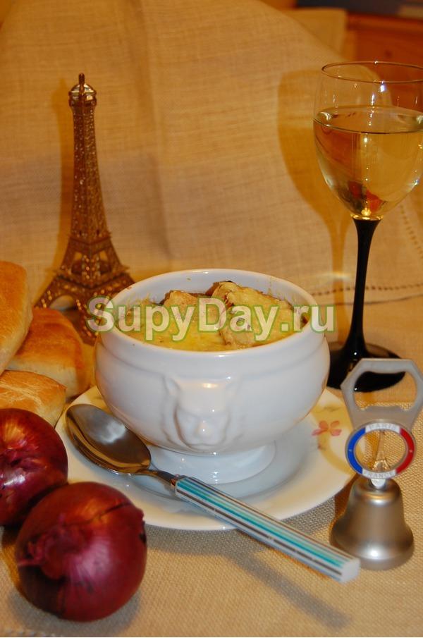 Французский суп с луком и морковью