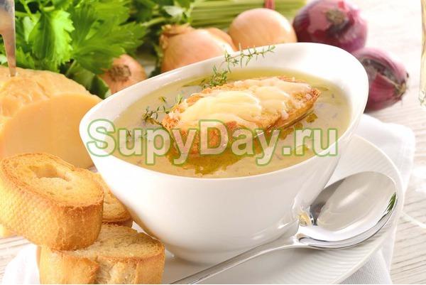Луковый суп из смеси вин