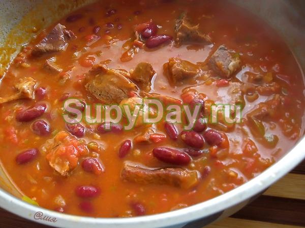 как приготовить фасолевый суп из красной фасоли с мясом рецепт с фото