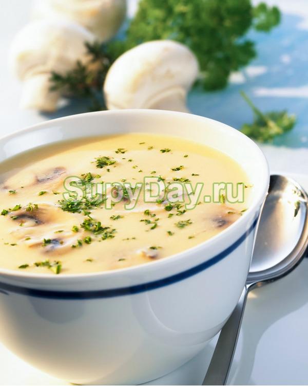Грибной крем суп из шампиньонов пп