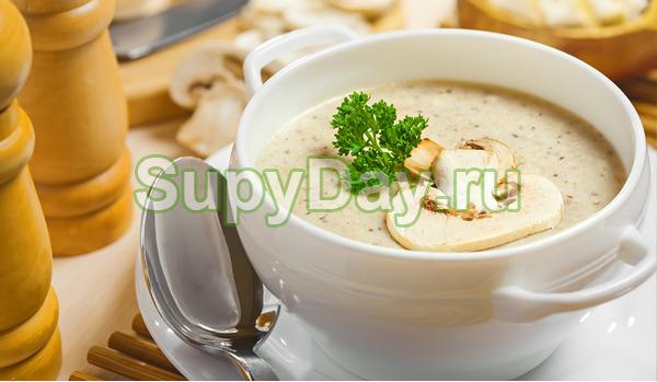 Суп пюре из картофеля с грибами