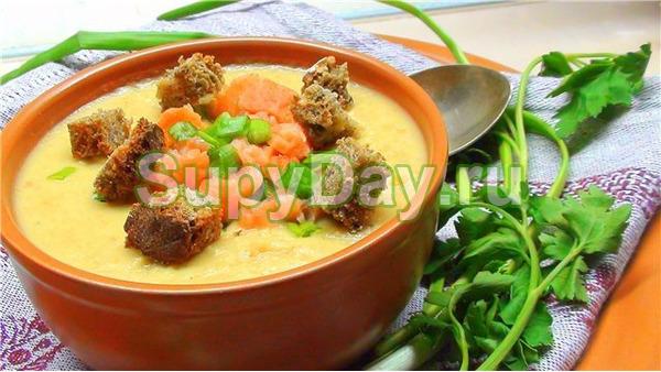 Суп пюре из картофеля с семгой