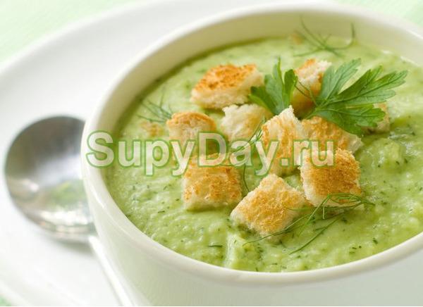Суп пюре из картофеля с брокколи