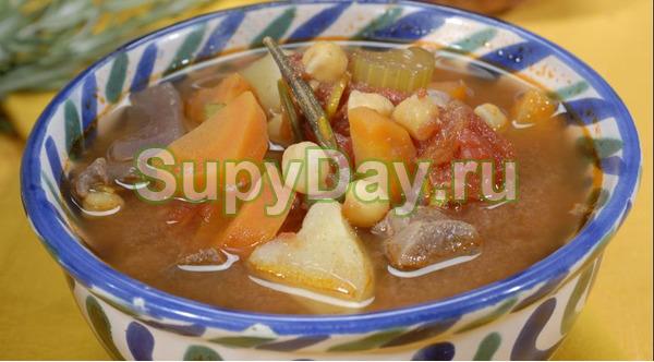 Домашний суп из говядины с фото