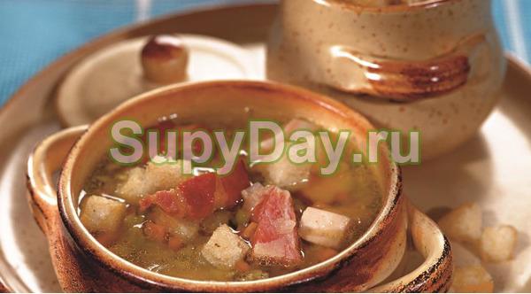 Рецепт горохового супа с копченой курицей за 35 минут