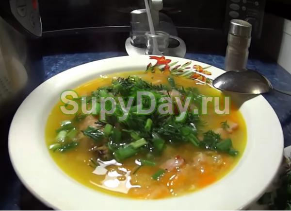 Рецепт горохового супа с копченой курицей в домашних условиях
