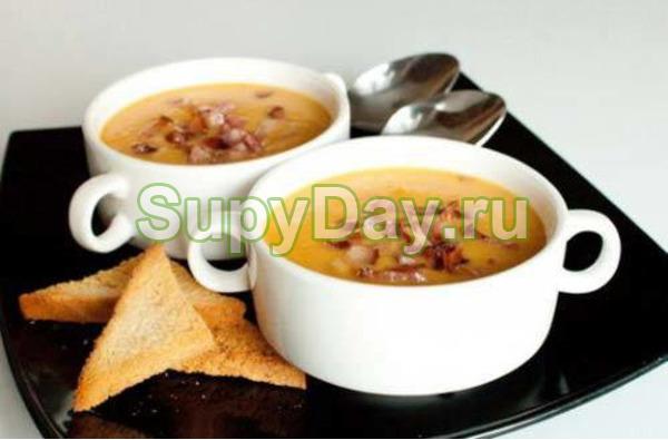 Рецепт горохового супа с копченой курицей - семейный вариант