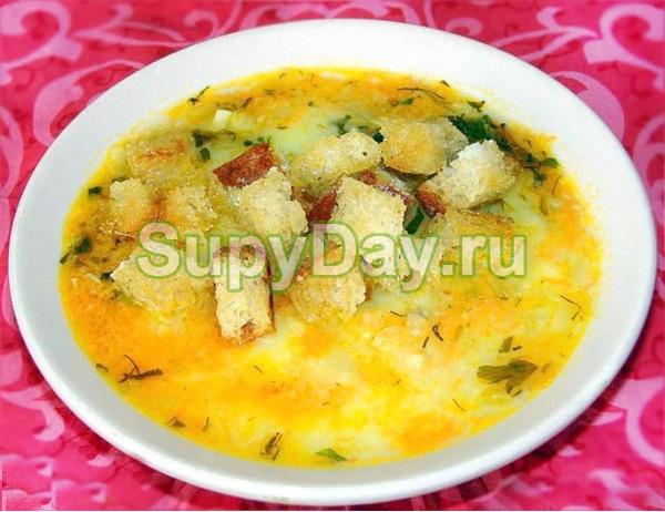 Гороховый суп пюре с грибами