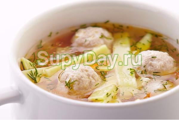 Суп «Птичий» с фрикадельками