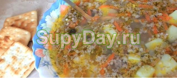 Густой суп с ленивыми фрикадельками и машем