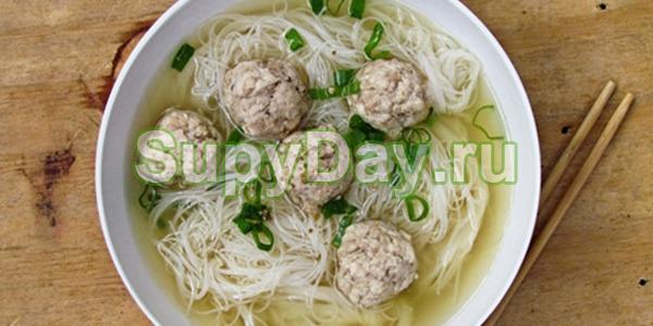 Суп с фрикадельками по-китайски