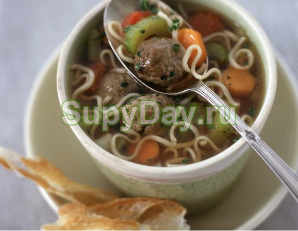 Суп вермишелевый с ленивыми фрикадельками