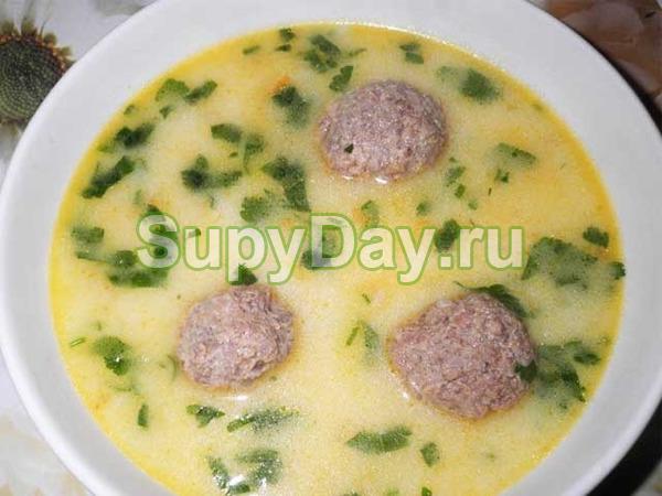 Суп «Сливочные фрикадельки»