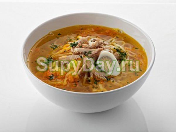 куриный суп с яичной лапшой рецепты