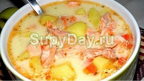 Суп из лосося со сливками по – фински от Вилле Хаапасало