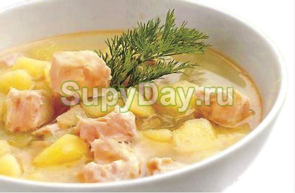 Суп из лосося со сливками по – фински «Бюджетный»