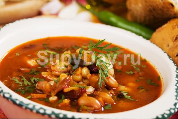 суп фасолевый с курицей рецепт с фото