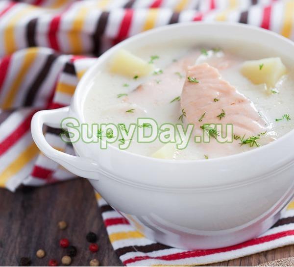 Суп из лосося со сливками «Финская уха»