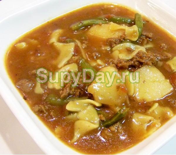Суп из фасоли без картофеля