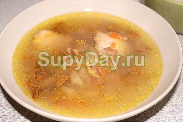 Грибной суп со свининой рецепт пошагово в