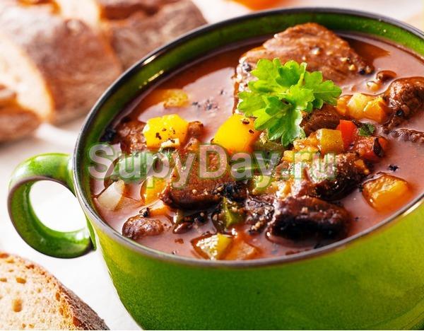 Суп с говядиной и кукурузой
