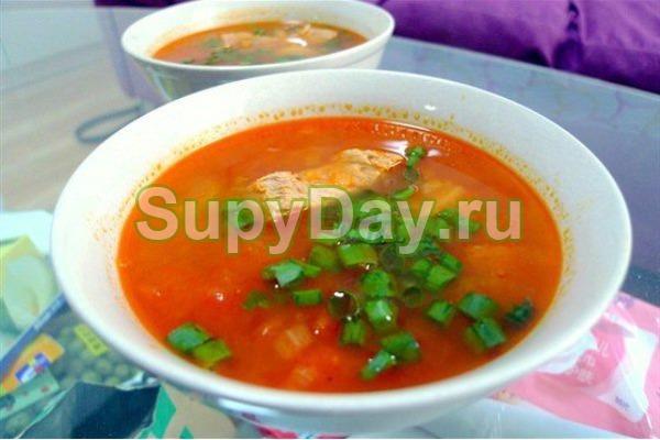 Быстрый суп с говядиной и овощами