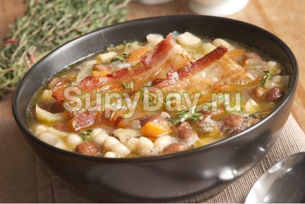 Фасолевый суп из консервированной фасоли с говядиной