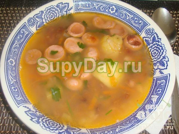 Куриный суп из консервированной фасоли рецепт с фото