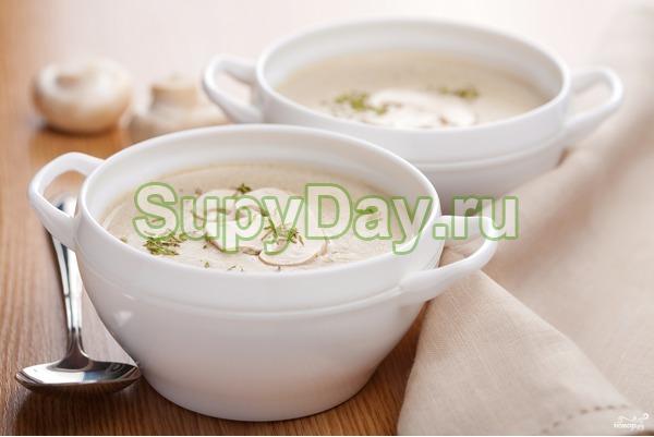 Суп для похудения с фасолью и грибами