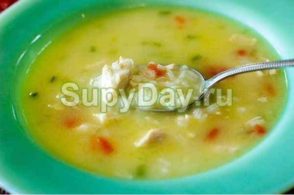 Суп из куриной грудки с рисом «Заряд бодрости»