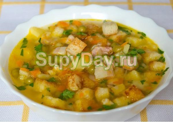 Суп из куриной грудки с зеленым горошком «Оригинальный»