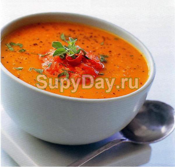 Овощной суп с тыквой и красной фасолью