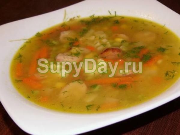 Простейший деревенский суп из белых свежих грибов с картофелем