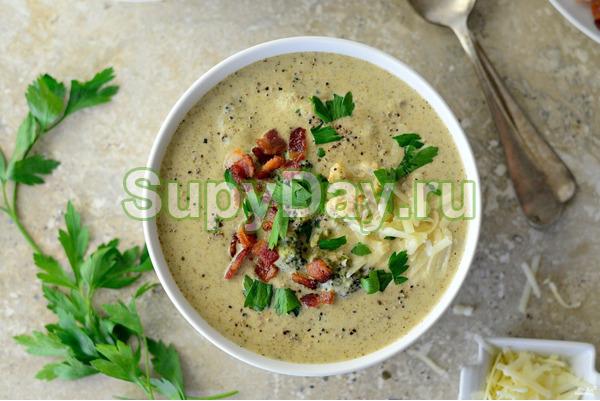 Суп из цветной капусты и пшенкой