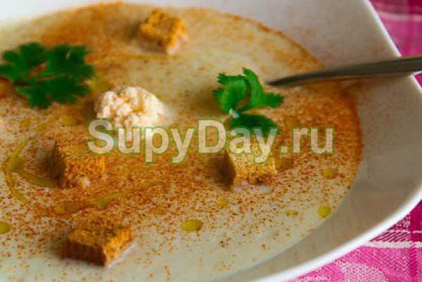 Суп из цветной капусты – «Велюте Дюбарри»