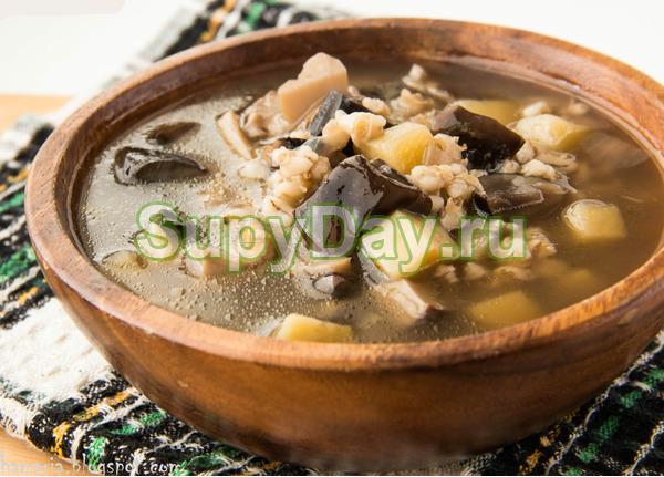 Шотландский суп с перловкой, белыми грибами