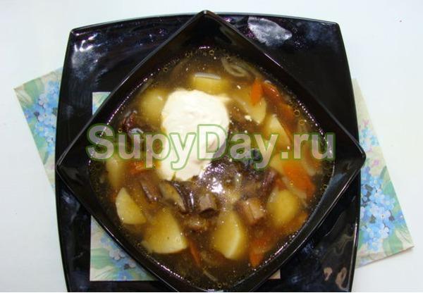 Классический грибной суп из белых грибов и картофеля