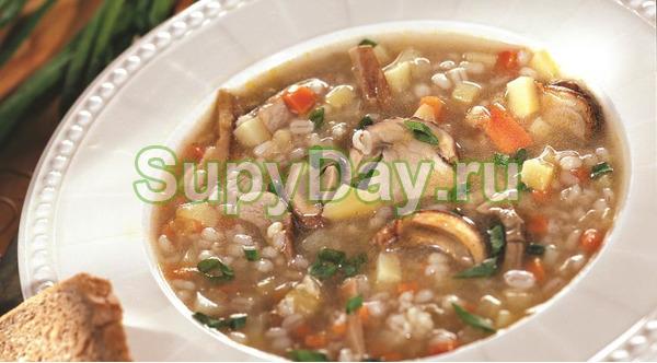 Грибной суп с перловкой - Классический