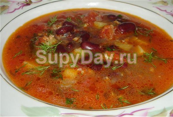 Суп из куриной грудки с фасолью и кукурузой «Энчилада»