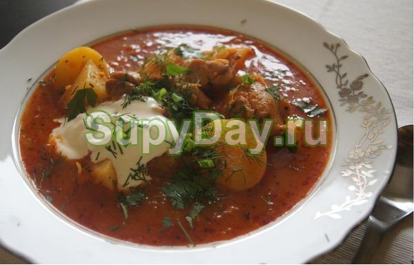 Суп гуляш «Бограч»