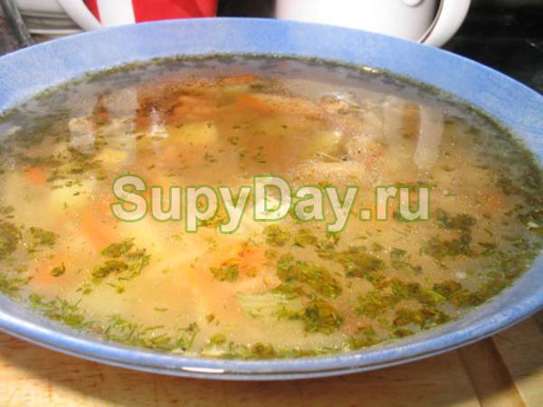Суп из копченой курицы с вермишелью