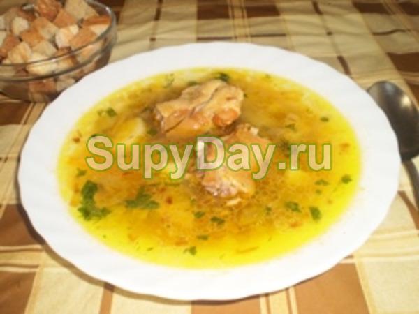 Гороховый суп на копченой курице