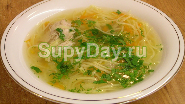 Суп лапша куриная с секретом