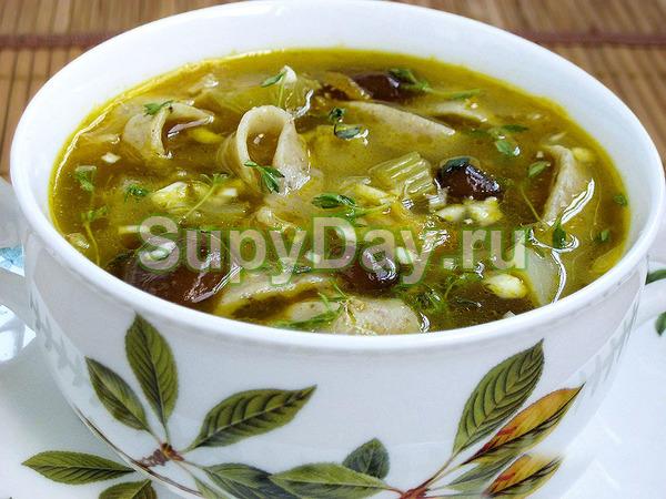 Классический грибной суп с пеньковыми опятами