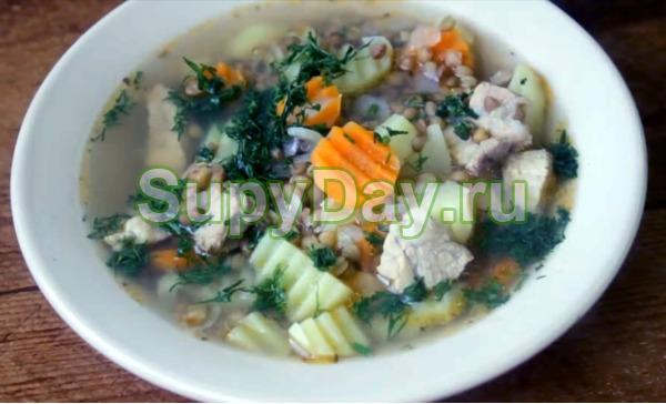 Суп из чечевицы с мясом и картошкой